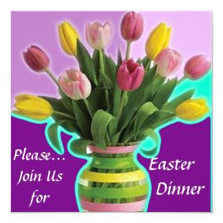 Easter Tulips Dinner Invitation