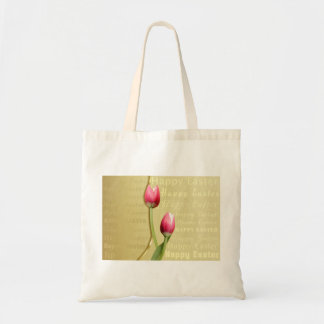 Easter Tulips Gold Typography - Bag
