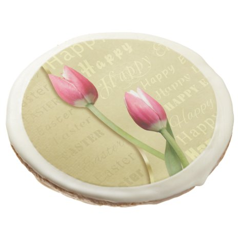 Easter Tulips Gold Typography - Cookies