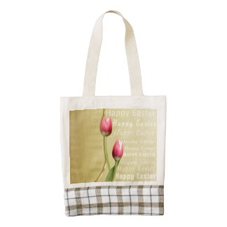 Easter Tulips Gold Typography - Zazzle HEART Tote