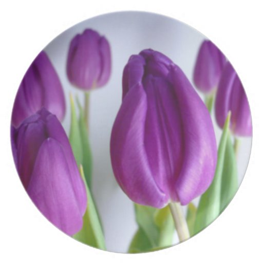 Easter Tulips Plate