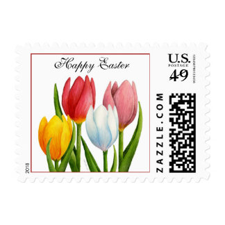 Easter Tulips Postage Stamp