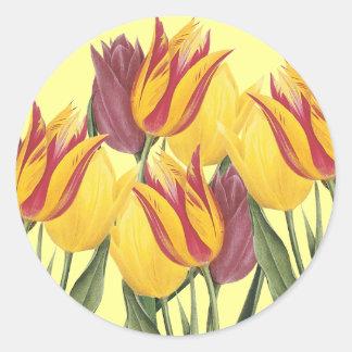Easter Tulips Round Sticker