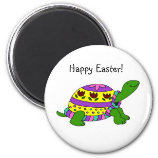 Easter turtle 2 inch round magnet