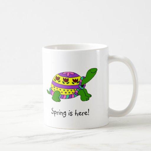 Easter turtle classic white coffee mug