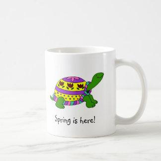 Easter turtle coffee mug