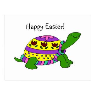 Easter turtle postcard
