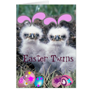Easter Twins Greeting Card