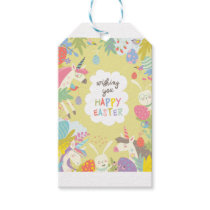 easter unicorn gift tags