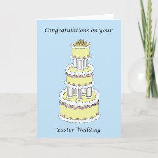 Easter Wedding Congratulations Holiday Card