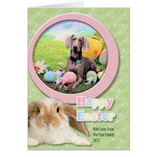 Easter - Weimaraner - Ben Card