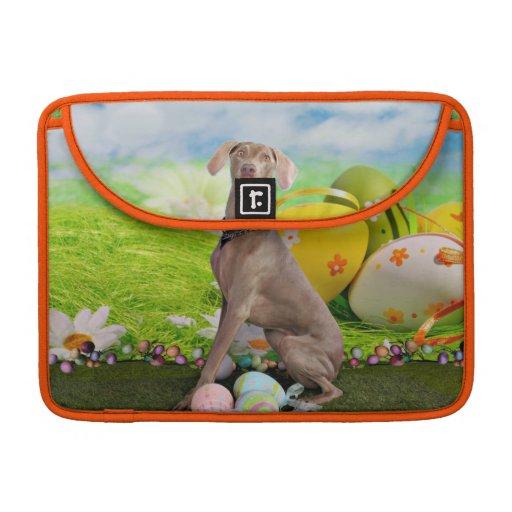 Easter - Weimaraner -Nevaeh MacBook Pro Sleeves