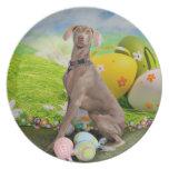 Easter - Weimaraner -Nevaeh Party Plates