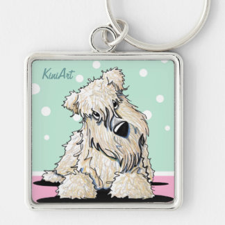 Easter Wheaten Square Keychain