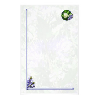Easter White Butterfly Stationary Stationery