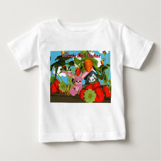Easter with bunny chocolate eggs, strawberries baby T-Shirt