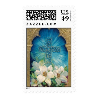 Easter With Cross and Lilies Stamps