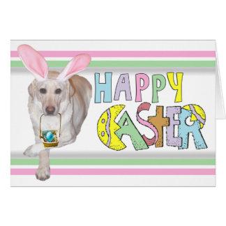 Easter Yellow Labrador Retriever Card