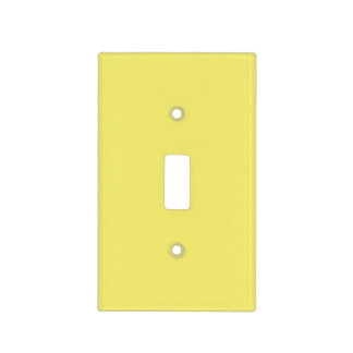 Easter Yellow Personalized Trend Color Background Light Switch Cover