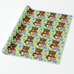 EASTER YORKIE POO GIFT WRAPPING PAPER