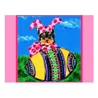 Easter Yorkie Poo Postcard