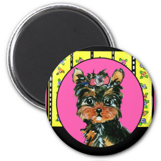 Easter Yorkie Poos Refrigerator Magnets