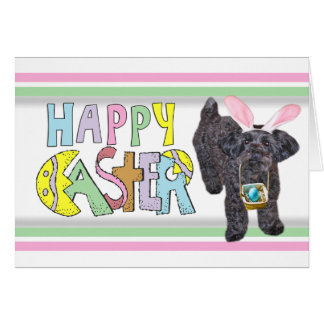 Easter YorkiePoo - Yorkshire Terrier Poodle Mix Stationery Note Card