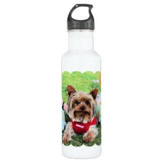 Easter - Yorkshire Terrier - Sassy 24oz Water Bottle