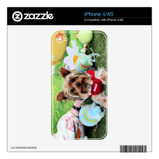 Easter - Yorkshire Terrier - Sassy Skin For The iPhone 4