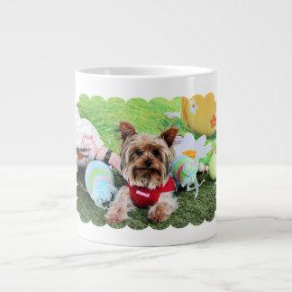 Easter - Yorkshire Terrier - Sassy 20 Oz Large Ceramic Coffee Mug