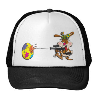 EasterB16 Paintball bunny Trucker Hat