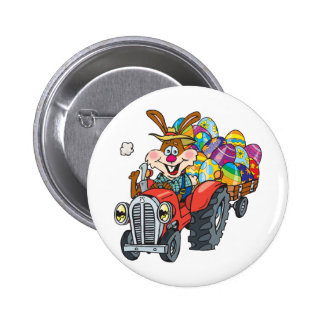 EasterB18 tractor bunny Button