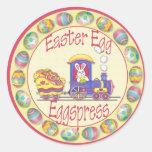 EasterEggspress1 Etiqueta Redonda