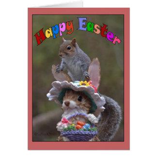 EasterFeaturing feliz lindo, imagen divertida de S Tarjeta De Felicitación