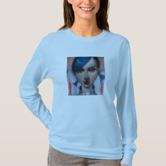 """""""Easterlily"""" Ladies Long Sleeve Baby Blue T-Shirt"""