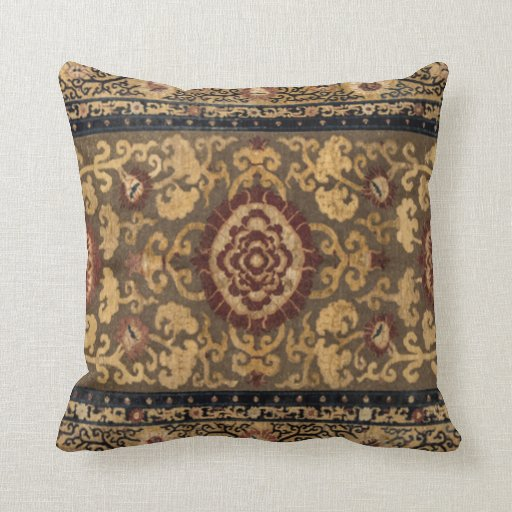 Eastern Accent Vintage Persian Carpet Pattern Throw Pillow Zazzle