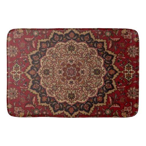 Eastern Accent Vintage Persian Pattern Bath Mat Zazzle
