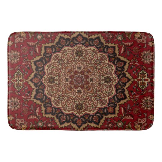 Turquoise Bath Rugs For Dry The Feet Simple Turquoise: Eastern Accent Vintage Persian Pattern Bath Mat