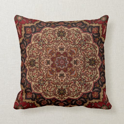 Eastern Accent Vintage Persian Pattern Pillow Zazzle