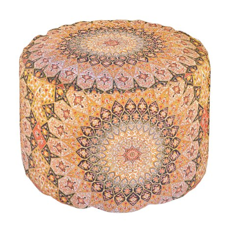Eastern Accent Vintage Persian Pattern Pouf