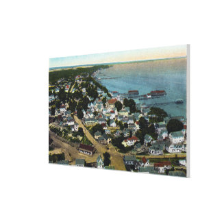 Eastern Aerial View of Town from Pilgrim Canvas Print