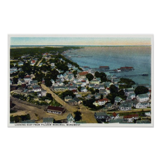 Eastern Aerial View of Town from Pilgrim Poster