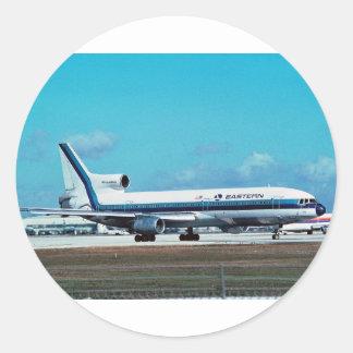 "EASTERN AIRLINES Lockheed L-1011 ""Whisperliner "" Pegatina Redonda"