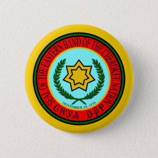 Eastern Band Of The Cherokee Seal Button