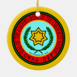 Eastern Band Of The Cherokee Seal Ceramic Ornament