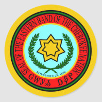 Eastern Band Of The Cherokee Seal Classic Round Sticker