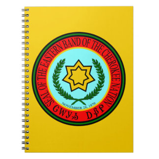 Eastern Band Of The Cherokee Seal Spiral Notebook
