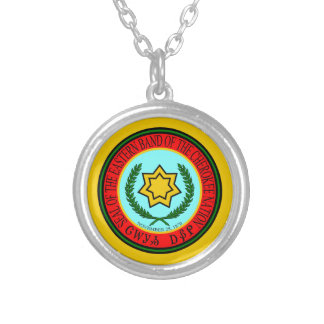 Eastern Band Of The Cherokee Seal Silver Plated Necklace