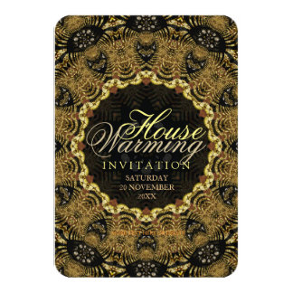 "Eastern Batik | New Home Warming Gathering Invite 3.5"" X 5"" Invitation Card"