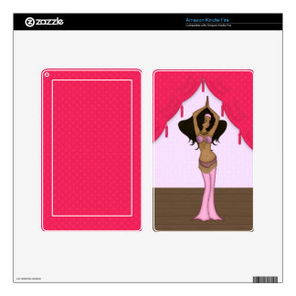Eastern Bellydancer in Pink and Gold Costume Kindle Fire Decals